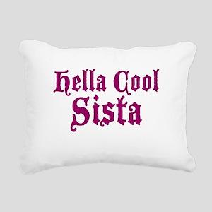 Hella Cool Sista Rectangular Canvas Pillow