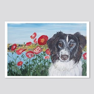 """""""Border Collie"""" Postcards (Package of 8)"""