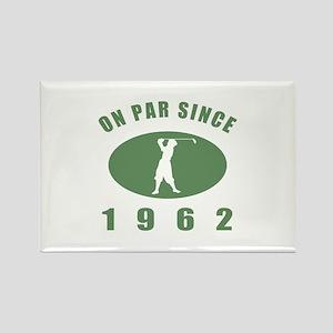 1962 Golfer's Birthday Rectangle Magnet