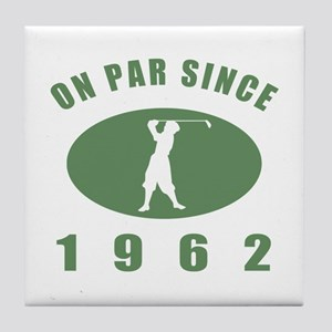 1962 Golfer's Birthday Tile Coaster
