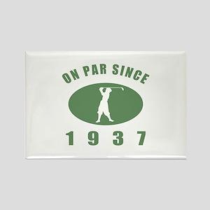 1937 Golfer's Birthday Rectangle Magnet