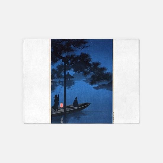 Shubi Pine - anon - 1900 - woodcut 5'x7'Area Rug