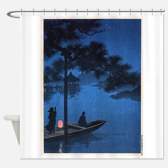 Shubi Pine - anon - 1900 - woodcut Shower Curtain