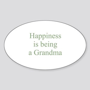 Happiness is being a Grandma Oval Sticker