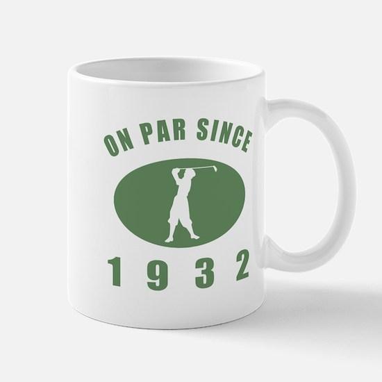 1932 Golfer's Birthday Mug