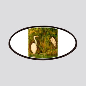 Egrets! Bird, wildlife, wetland art! Patches