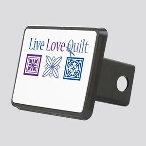 Live Love Quilt Rectangular Hitch Cover