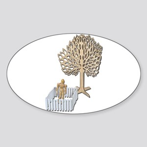 Enclosed Yard and Tree Sticker (Oval)