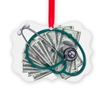 Stethoscope and Money Picture Ornament