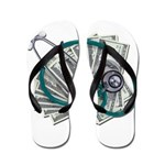 Stethoscope and Money Flip Flops