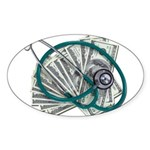 Stethoscope and Money Sticker (Oval)