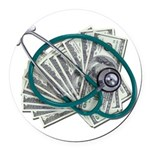 Stethoscope and Money Round Car Magnet