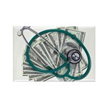 Stethoscope and Money Rectangle Magnet (10 pack)
