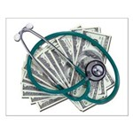 Stethoscope and Money Small Poster