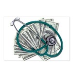 Stethoscope and Money Postcards (Package of 8)
