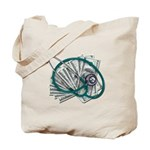 Stethoscope and Money Tote Bag