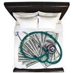 Stethoscope and Money King Duvet