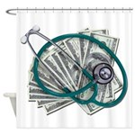 Stethoscope and Money Shower Curtain