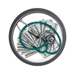 Stethoscope and Money Wall Clock