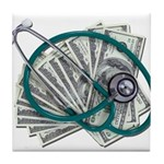 Stethoscope and Money Tile Coaster