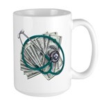 Stethoscope and Money Large Mug