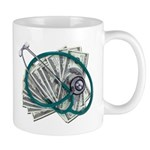 Stethoscope and Money Mug