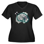 Stethoscope and Money Women's Plus Size V-Neck Dar