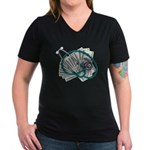 Stethoscope and Money Women's V-Neck Dark T-Shirt