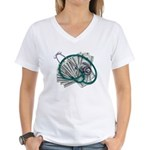 Stethoscope and Money Women's V-Neck T-Shirt