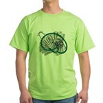 Stethoscope and Money Green T-Shirt