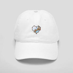 Giraffe & Calf Snowflake Heart Cap