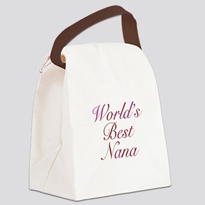 Worlds Best Nana Canvas Lunch Bag