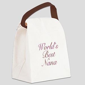 Worlds Best Nana Canvas Lunch Bag