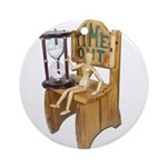 Sitting Timeout Chair Hour Glass Ornament (Round)