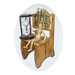 Sitting Timeout Chair Hour Glass Ornament (Oval)