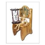 Sitting Timeout Chair Hour Glass Small Poster