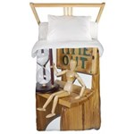 Sitting Timeout Chair Hour Glass Twin Duvet
