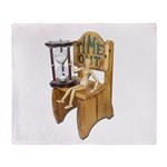 Sitting Timeout Chair Hour Glass Throw Blanket