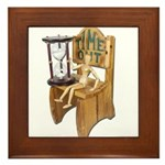 Sitting Timeout Chair Hour Glass Framed Tile