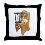 Sitting Timeout Chair Hour Glass Throw Pillow