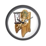 Sitting Timeout Chair Hour Glass Wall Clock