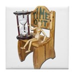 Sitting Timeout Chair Hour Glass Tile Coaster
