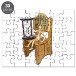 Sitting Timeout Chair Hour Glass Puzzle
