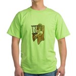 Sitting Timeout Chair Hour Glass Green T-Shirt