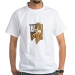 Sitting Timeout Chair Hour Glass White T-Shirt