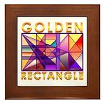golden rectangle Framed Tile