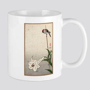 Small Bird On A Lily Plant - Baison - 1890 - woodc