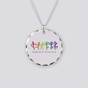 gay pride dance Necklace Circle Charm