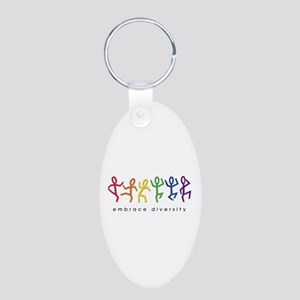 gay pride dance Aluminum Oval Keychain