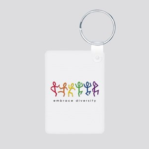 gay pride dance Aluminum Photo Keychain